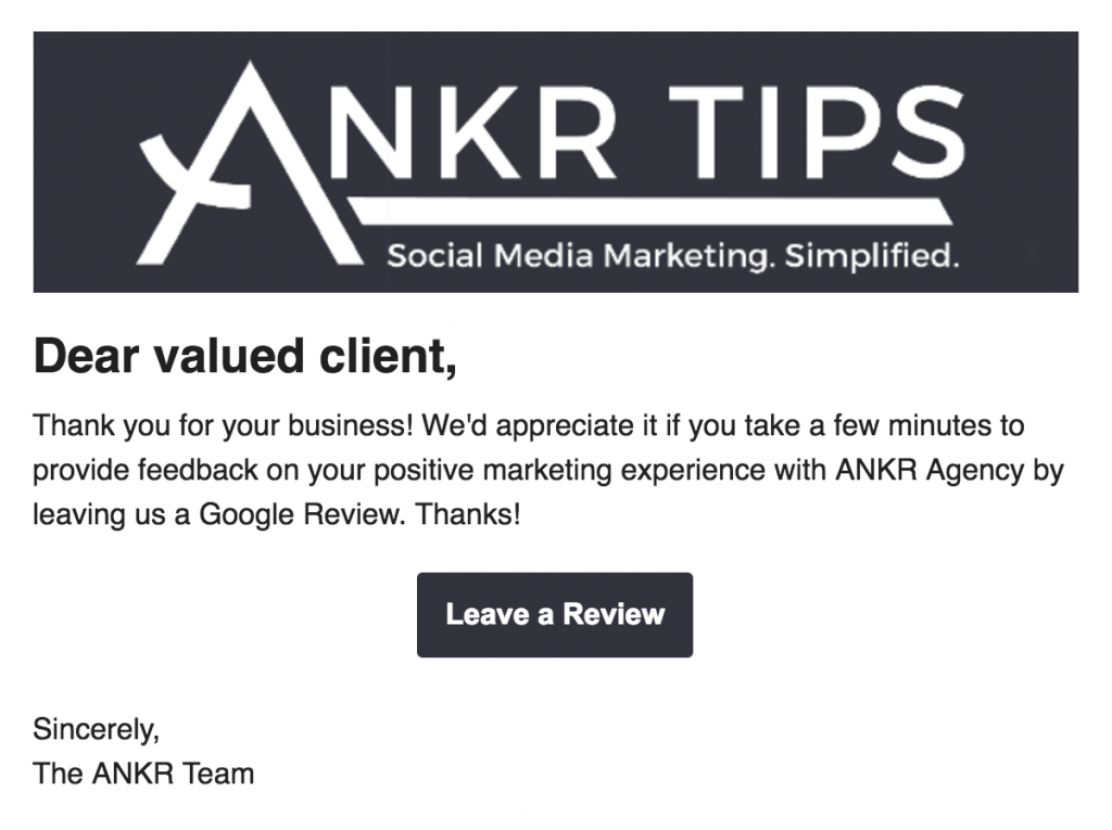 google review direct email link