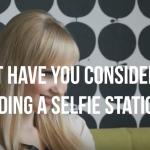 selfie station for salons